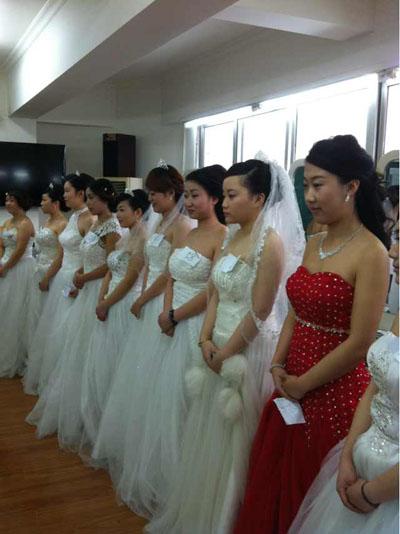 大华化妆学校学员新娘妆作品图片