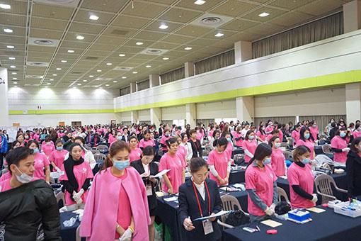 韩国纹绣大赛现场